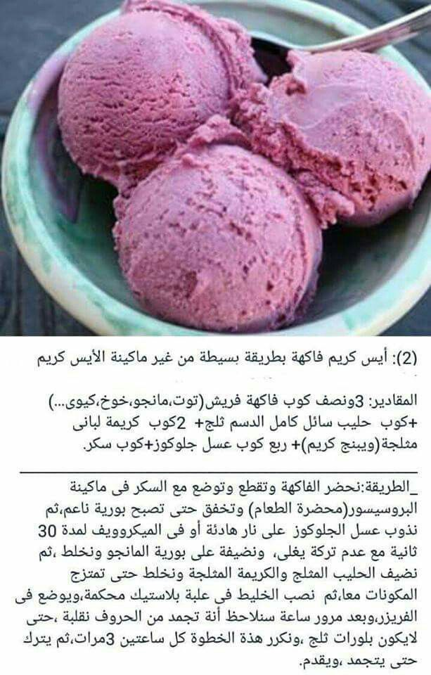 الايس كريم في المنزل Ice Cream Sandwiches Recipe Desserts Healthy Dessert