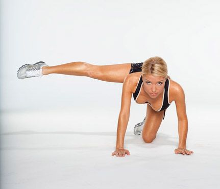 Gwyenth Paltrow's Arm and Ab Routine via Self.com