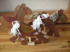 Pferdchen aus Tonkarton basteln