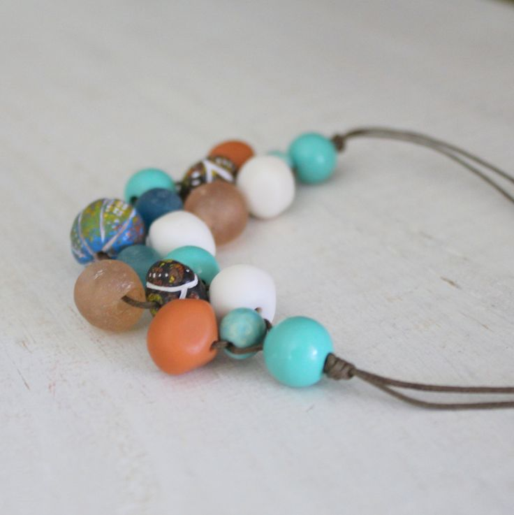 Rock Pool Bib Necklace by earlybirdcreations on Etsy