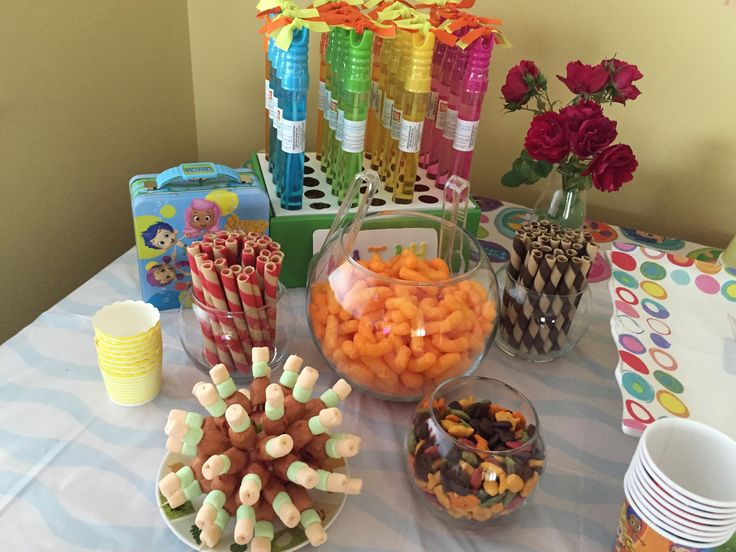 Party snacks for a bubble party