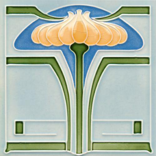 Golem Kunst- und Baukeramik GmbH | Art Nouveau tiles decorated | Art Nouveau tiles6