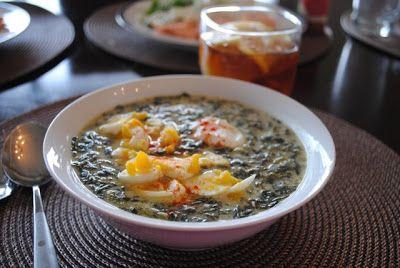 Суп из шпината с йогуртом