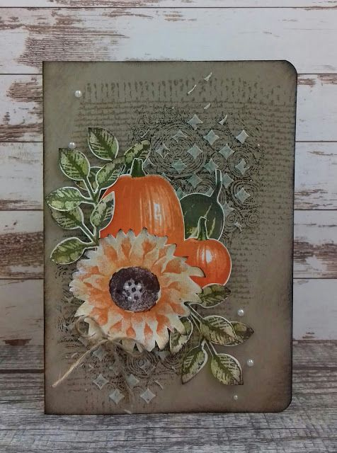 Painted Harvest, Gourd Goodness, Tree Rings Background, Stampin'Up! www.stamp-ing.blogspot
