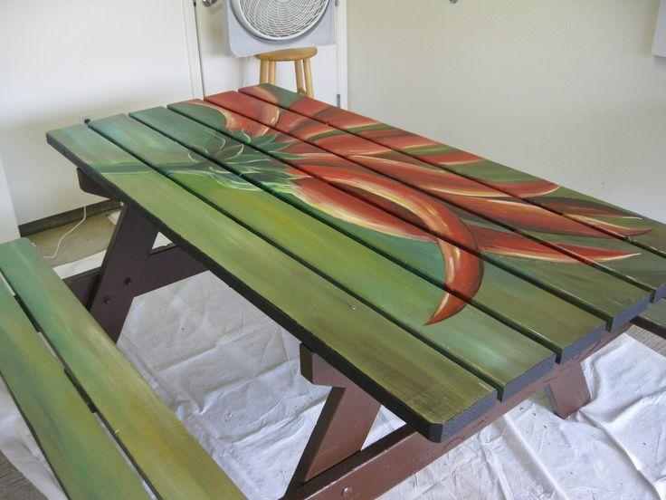 17 Best Images About Picnic Table Paint Ideas On Pinterest
