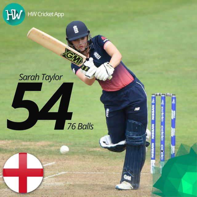 Not only did Sarah Taylor get England closer to the target with her awesome innings, but she effected a brilliant stumping as well! #WWC17 #ENG #SA #cricket #ENGvSA