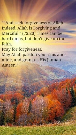 Pray for forgiveness
