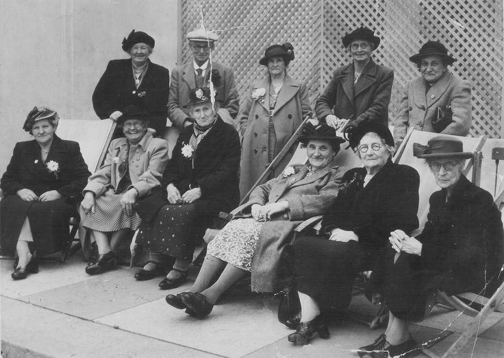 Opening of Finedon Derby & Joan-Front L-R Pat Panter, Mrs Joyce, Mrs Nichols,Lucy Coles, Mrs Kirton, Mrs Boddington.