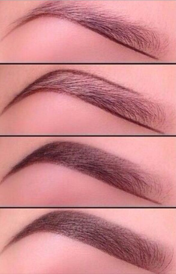 Best how to brow tutorial. This is the method I use. Products I use include a gel eye liner in Expresso, clear brow gel and a small short bristle angled brush.: