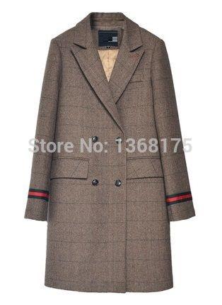 Толстый коричневый в клетку Шерстяное пальто Pad Подкладка теплая Зимняя шерстяная одежда Пальто для будущих мам Для женщин более Пальто для будущих мам серый в клеткукупить в магазине Friend Lilai StoreнаAliExpress