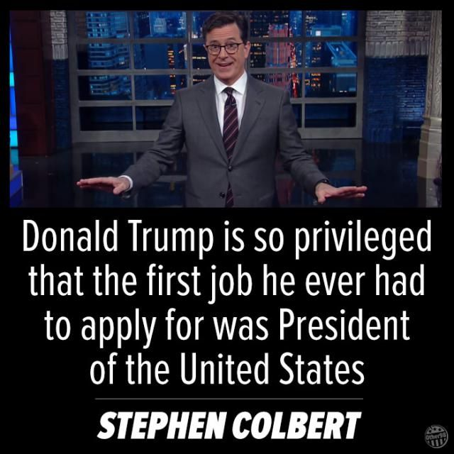 Funniest Post-Election Memes: Colbert on Trump and Privilege