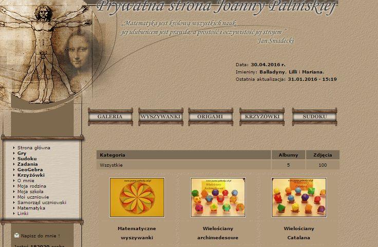 Ciekawe zadania matematyczne - Prywatna strona Joanny Palińskiej