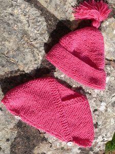 Tuto cache-coeur et bonnet pointu 0-3 mois