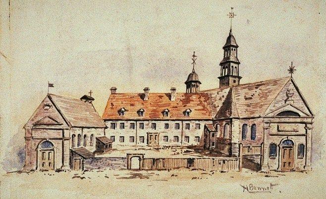 Archives du Musée McCord / H.R.S.Bunnett.  L'ensemble des bâtiments illustrés…