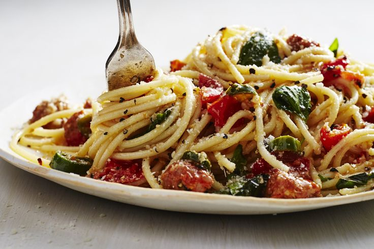 Mario Batali is turning the entire culinary world red for a good cause—starting with this pasta dish. During the month of June, the global chef ambassador for the EAT (RED) SAVE LIVES campaign is t…