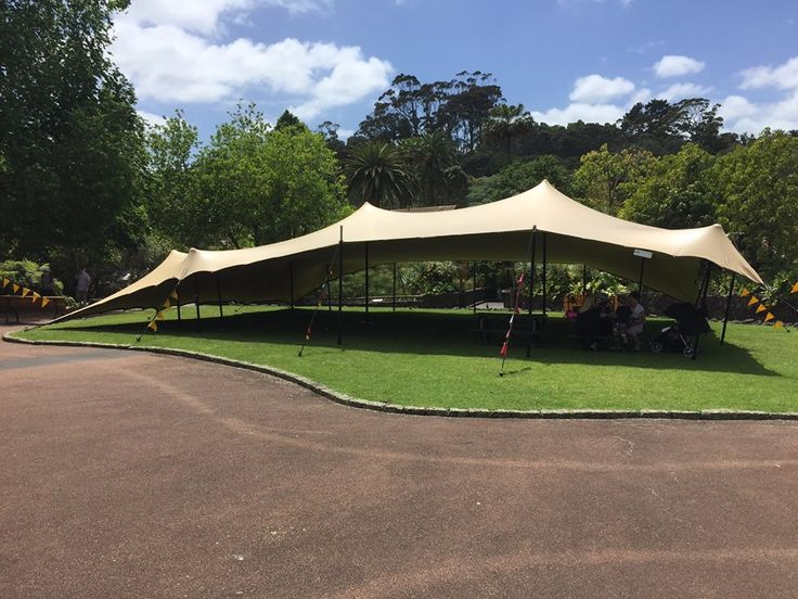 Cover for 130 on Auckland Zoo's rotunda lawn. October 2015