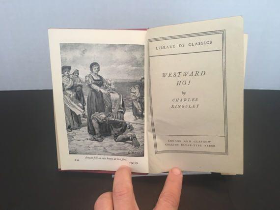 Westward Ho Charles Kingsley Library of Classics by ReadingVintage