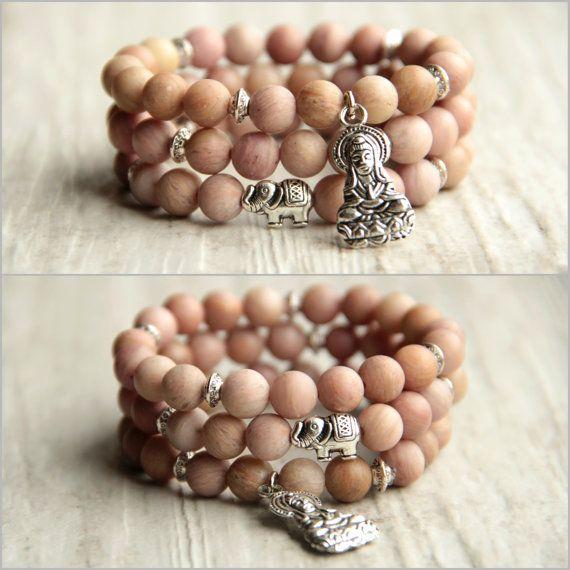 Buddhism bracelet Elephant Bracelet set Yoga by AllAboutHandmade1