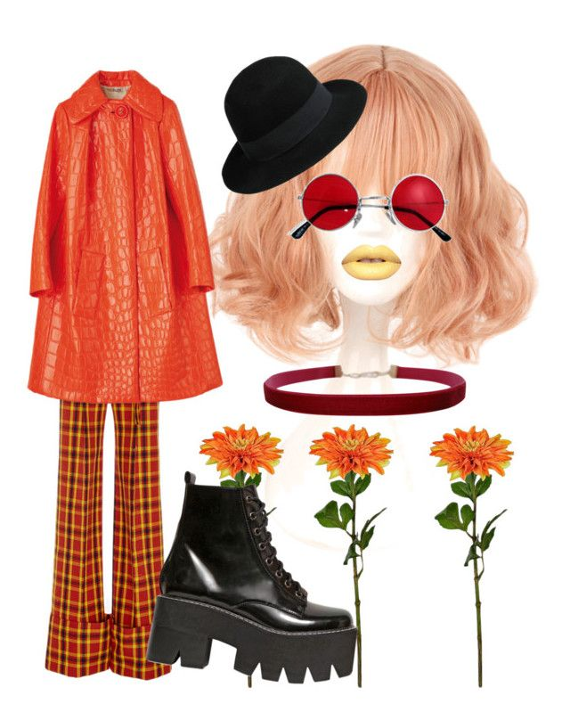 """Peachy red"" by alklncirem on Polyvore featuring moda, Rosie Assoulin, Jeffrey Campbell, George J. Love ve Humble Chic"