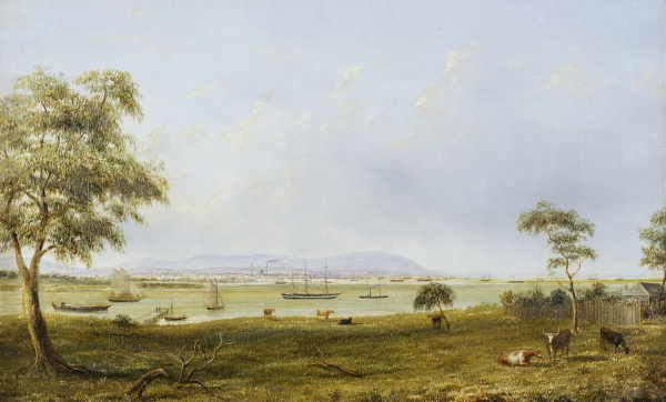 Sandridge and Hobson's Bay, from Williamstown