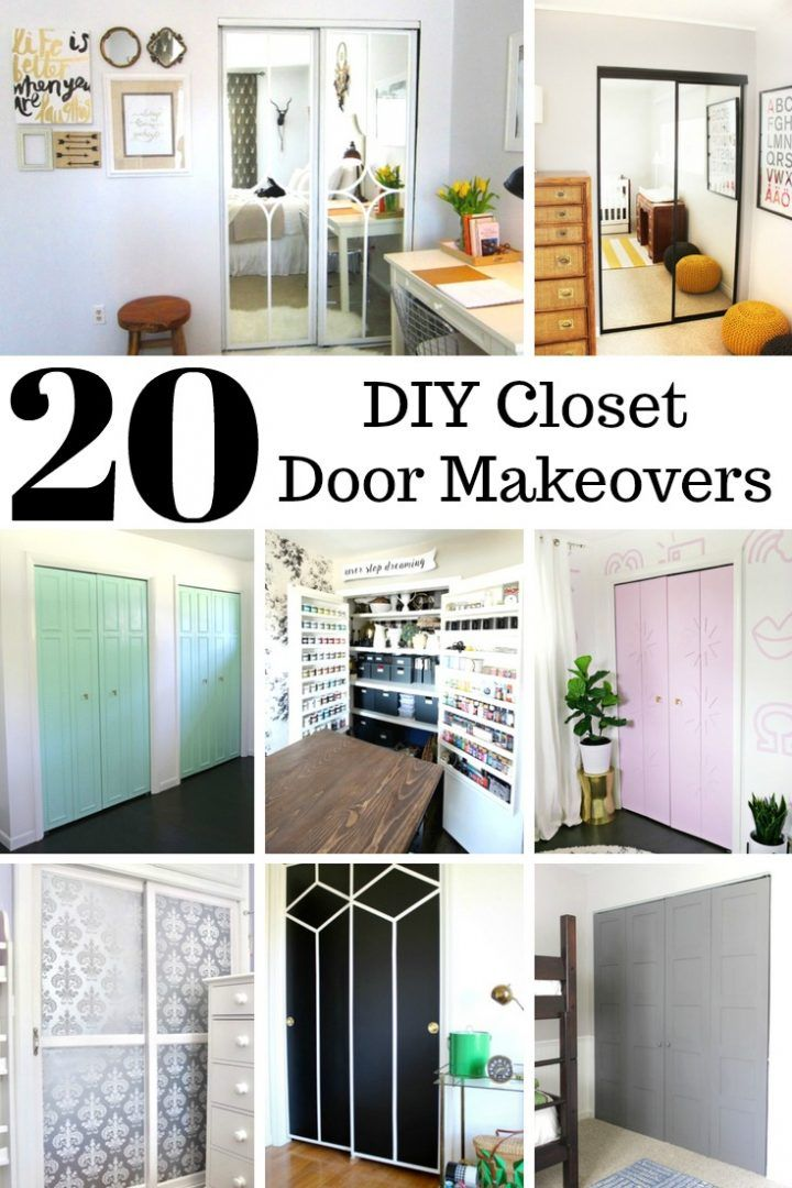 20 Diy Closet Door Makeovers Divinelifestyle Com Bedroom