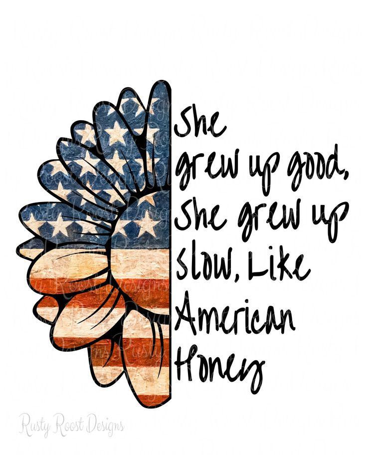 Patriotic flag png,half flower png,American Honey,sublimation design download,digital download,flag sublimation,clipart,american flag png