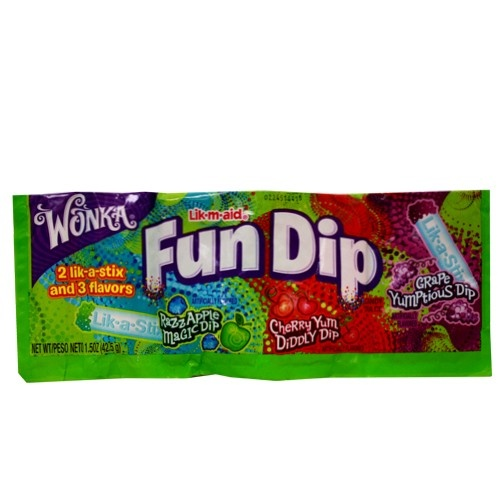 Lik-m-Aid Fun Dip - 1.5 oz by Willy Wonka Candy in Powder Candy   1970's Candy, 1980's Candy, 1990's Candy at Hometown Favorites Retro and Nostalgic Candy - Hometown Favorites