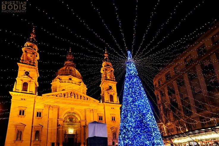 Budapest | St. Stephen's Basilica. view on Fb https://www.facebook.com/BudapestPocketGuide  credit: Krisztian Bodis  #budapest #budapestchristmasmarket #budapestchristmasfair