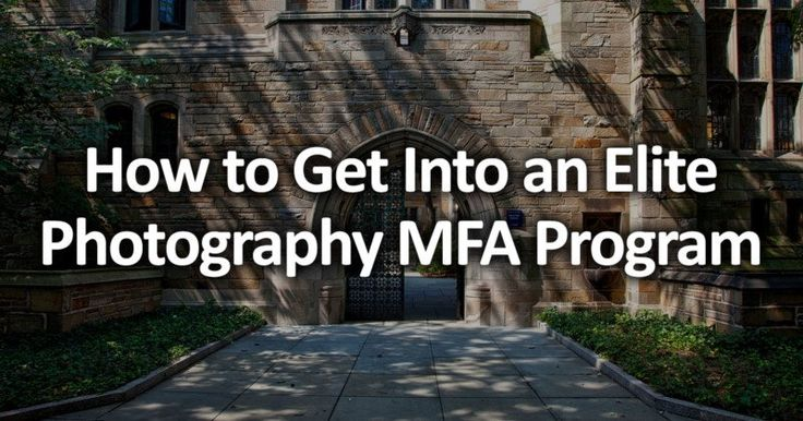 How to Get Into an Elite Photography MFA Program