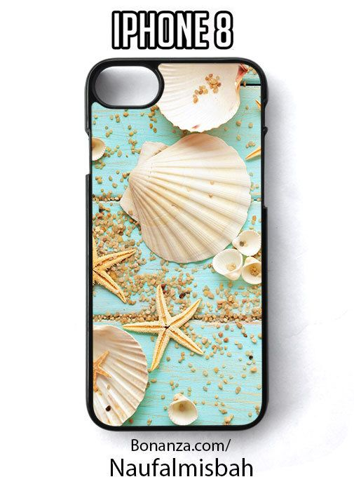 Seashells Starfish Exotic Print iPhone 8 Case Cover - Cases, Covers & Skins