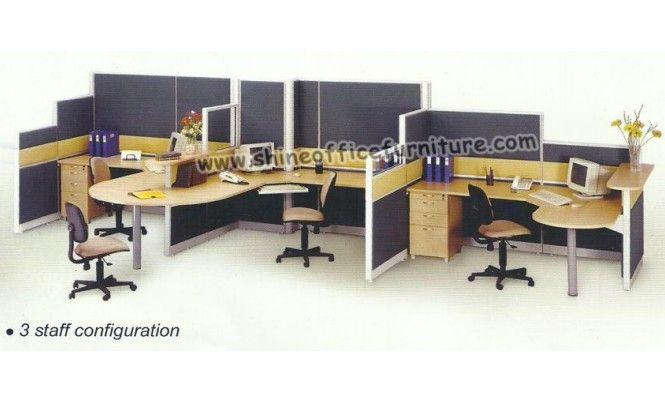 www.shineofficefurniture.com Partisi kantor UNO Konfigruasi Staff workstation by Shine Furniture