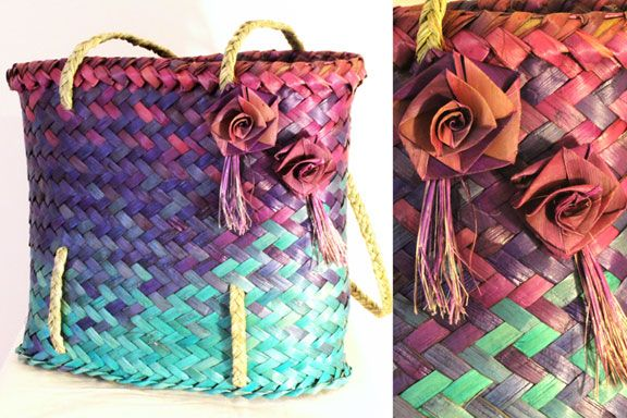 Kete with rose embellishment.