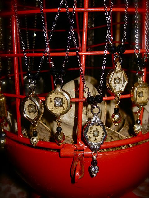 Pendants made of vintage watches--