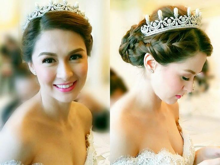 Marian Rivera's wedding hairdo