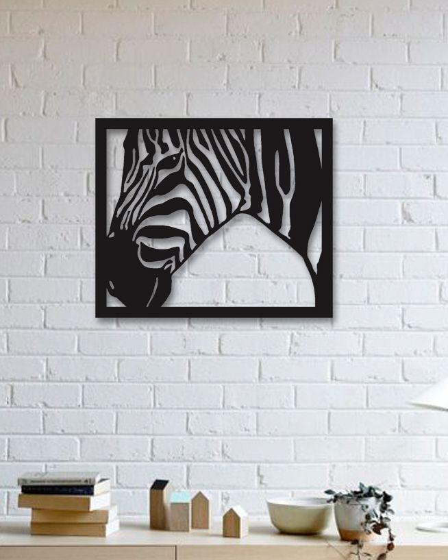 Zebra Metal Plaka - Zebra