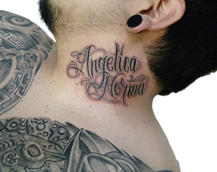 1000 images about tattoo lettering on pinterest for Cursive neck tattoos