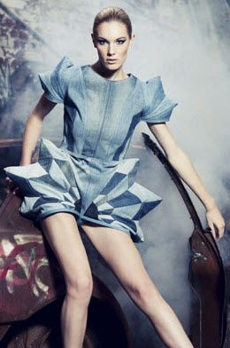 "Dress by Hyun Gun Jang ""Ecouterre Recycled Denim Challenge"""