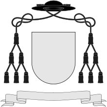 """Vigário."" A Vigário is a Catholic that has been authorized to do that work of a prelado governing in a certain location for an amount of time. This image is of a coat of arms of a vigário.  The padre Procópio is working for as coping documents receives a letter from a vigário do interior. The vigário wanted to know if the padre knew anyone who could work as a nurse for a coronel in the interior. The padre shows Procópio the letter and asks if he wants the job."