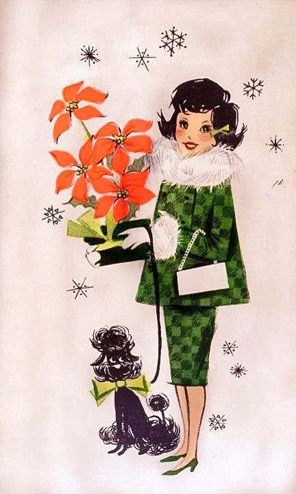I love vintage cards, invitations and graphics!! There is just something about the late 1950's and 1960's vintage look!