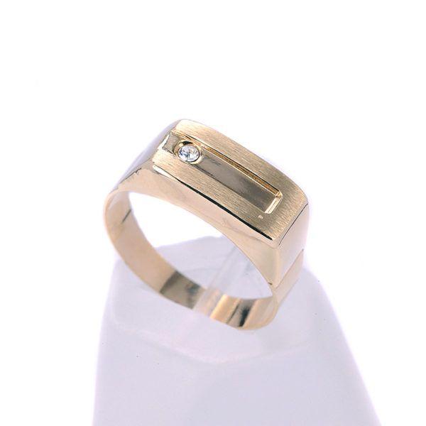Ανδρικό δαχτυλίδι χρυσό Κ14  7727