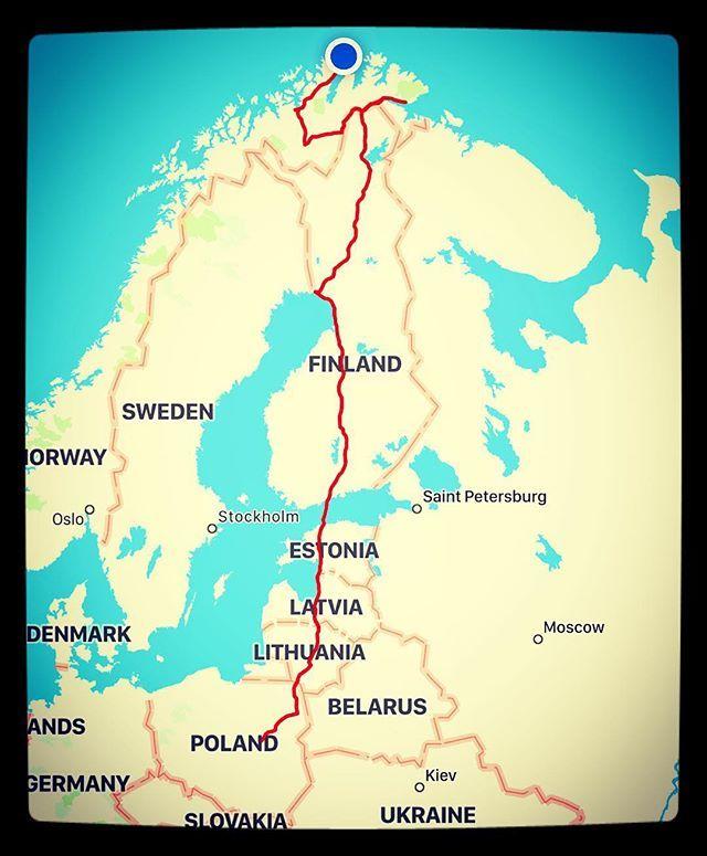 Road Map Of Germany 2017.Saab Winter Nordkapp Expedition 2017 Saab95ng Norway