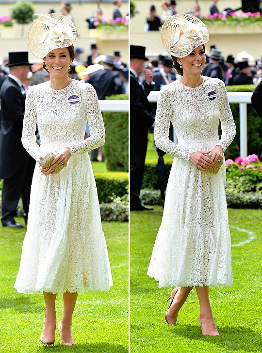 Catherine, Duchess of Cambridge, attends the second day of the Royal Ascot horse racing meet in Ascot on June 15, 2016.