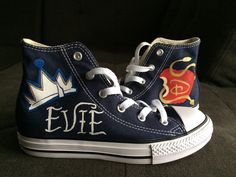 Evie Descendants shoes  Etsy shop https://www.etsy.com/listing/254885961/descendants-converse-shoes-evie