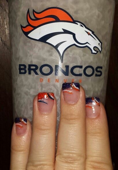 37 best denver broncos nail art images on pinterest denver my bronco nails prinsesfo Gallery