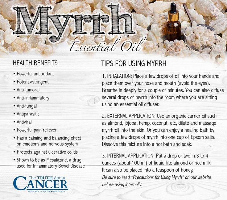 Nearly everyone knows the Bible story about the three wise men who took gifts of frankincense, gold, and myrrh to baby Jesus. But did you know that Myrrh has incredible healing benefits as well? Read all about the healing gifts of Myrrh essential oil here! Article by Marnie Clark. Please re-pin to help us educate others! // The Truth About CancerWhitney Thornton