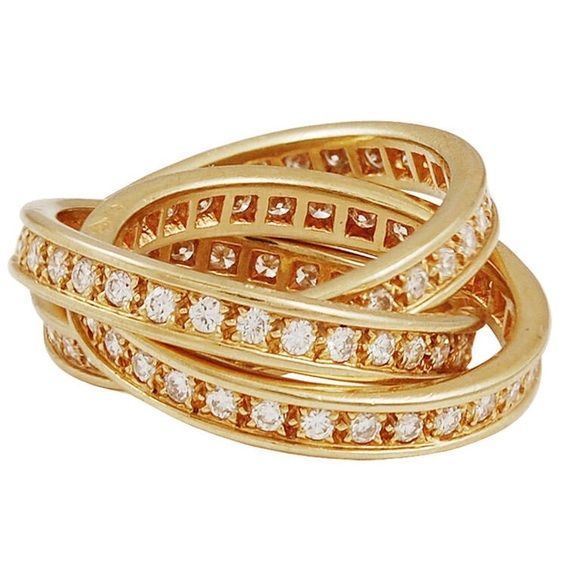 Cartier ring Authentic 18k with Diamonds Cartier ring Cartier Jewelry Rings