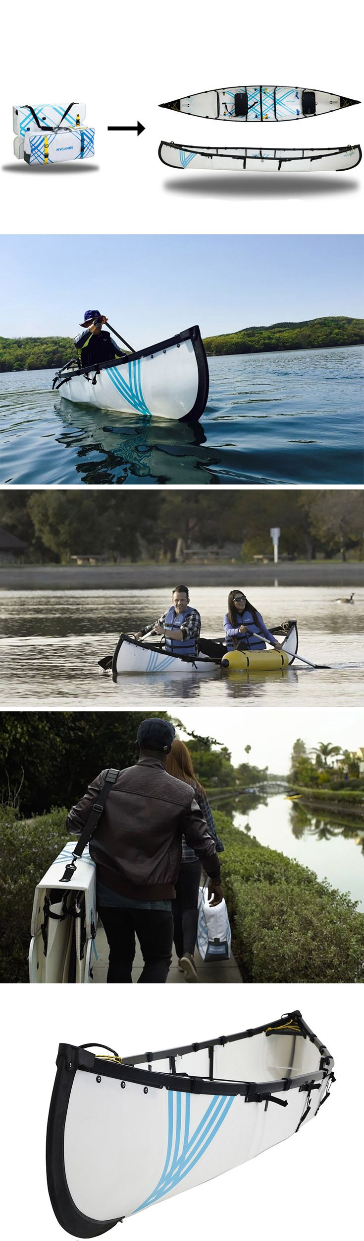 10 minutes is all you need transform this origami-inspired design from its folded form to a seaworthy vessel! It's called MyCanoe and it's compact enough to fit one or even two in your trunk, making it possible for anyone to enjoy canoeing without the need for car roof racks or a bulky, rigid boat. BUY NOW!