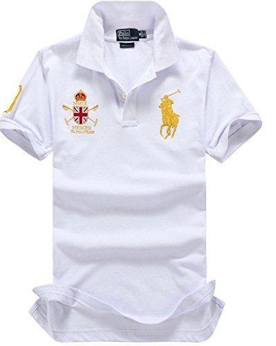 POLO RALPH LAUREN Polo Ralph Lauren Men'S Short Sleeve Lightweight Thin Mesh Custom Fit Shirt United Kingdom Polo Team. #poloralphlauren #cloth #