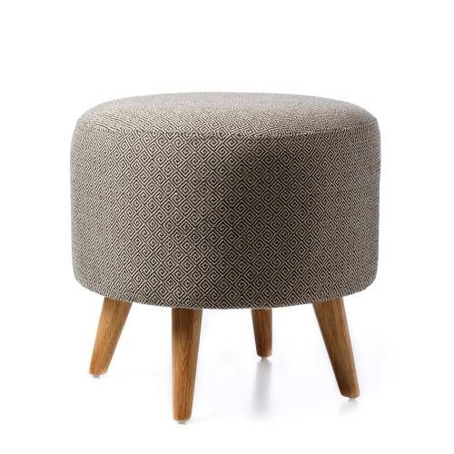 Home Republic Natural Round Diamond Ottoman - Furniture Ottomans - Adairs online