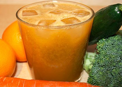 Oh Sweet Broccoli Juice: Joe Cross: 1/2 – 1 head of broccoli (florets and stalks), 2 oranges, 1 cucumber, 1 carrot